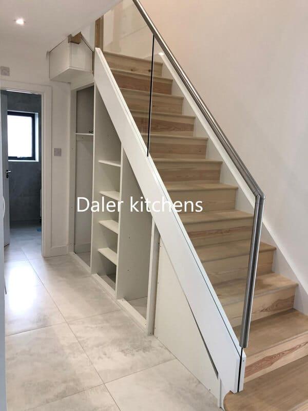 Staircase Wardrobe Design Cost London | Daler Kitchens