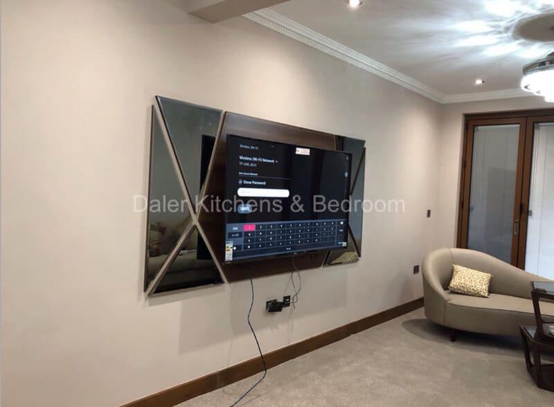 Fitted TV Cabinet Installer Cost London | Daler Kitchens