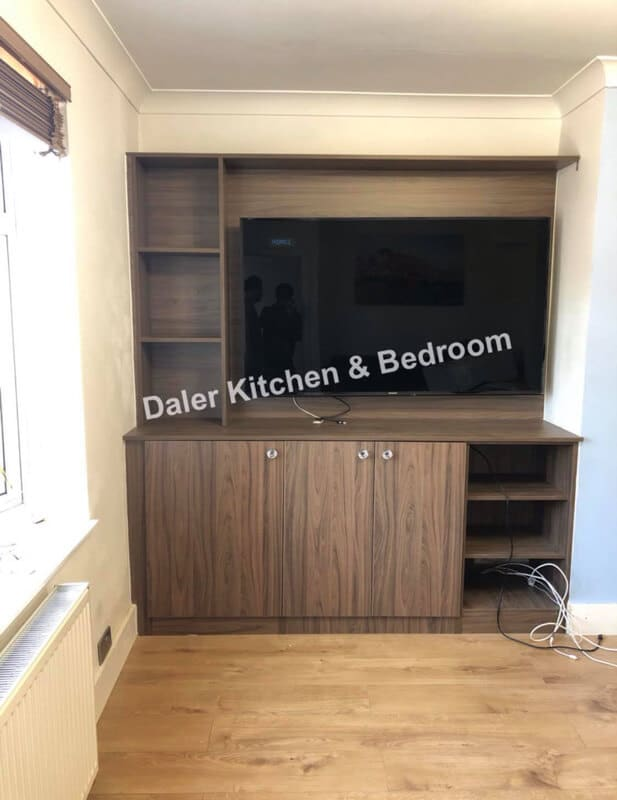 Bespoke Fitted TV Cabinet Designers Cost London | Daler Kitchens