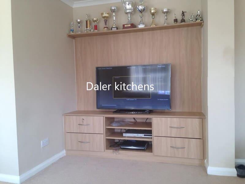 Bespoke Fitted TV Cabinet Designer Cost London | Daler Kitchens