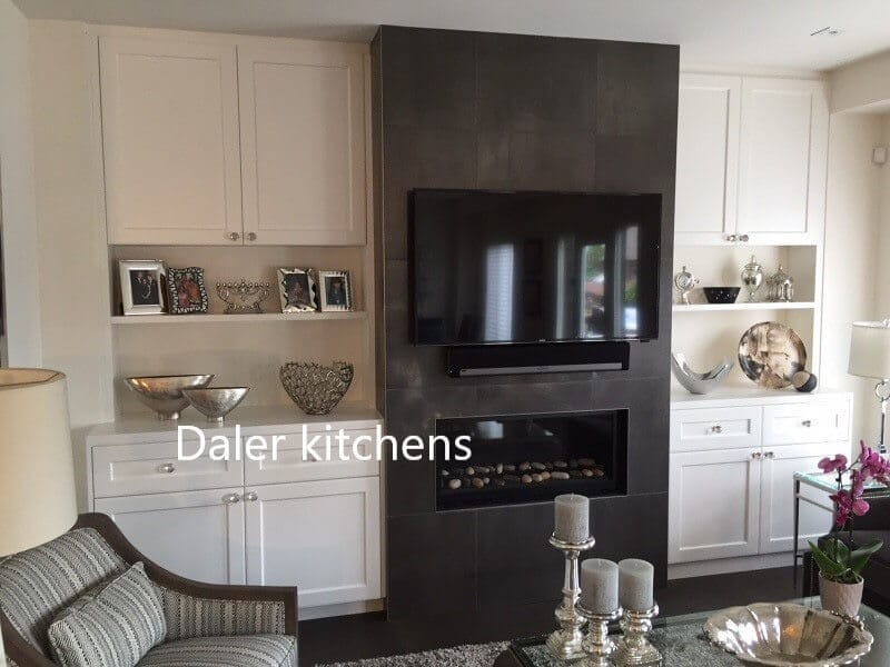 Bespoke Fitted TV Cabinet Design Cost London | Daler Kitchens
