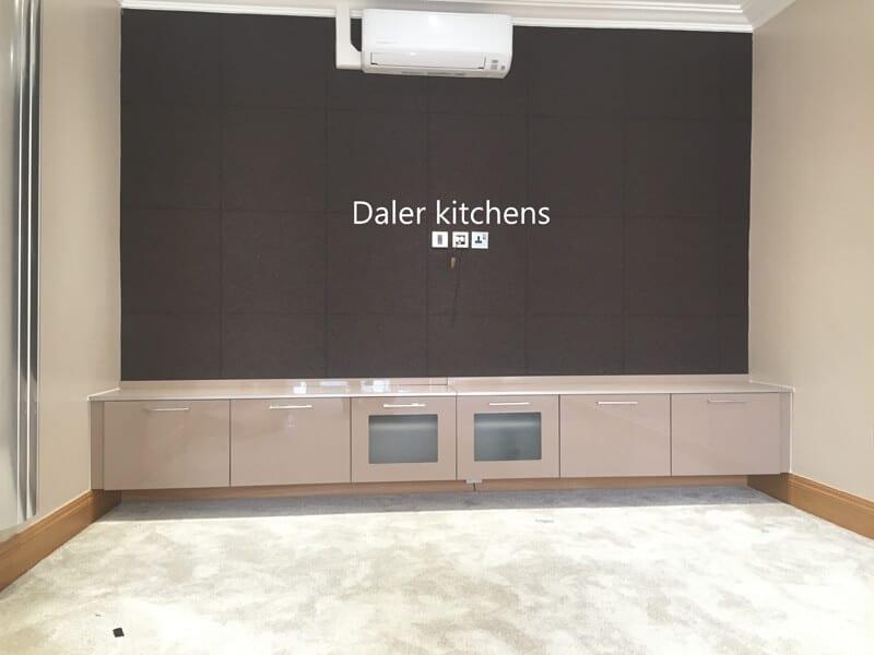 Bespoke Fitted TV Cabinet Installer Cost London | Daler Kitchens