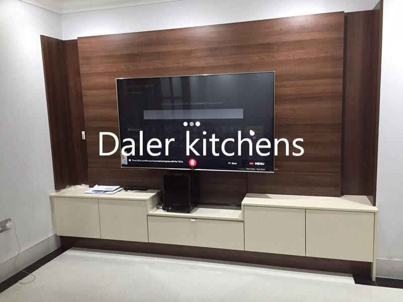 Bespoke Fitted TV Cabinet Installation Cost London | Daler Kitchens