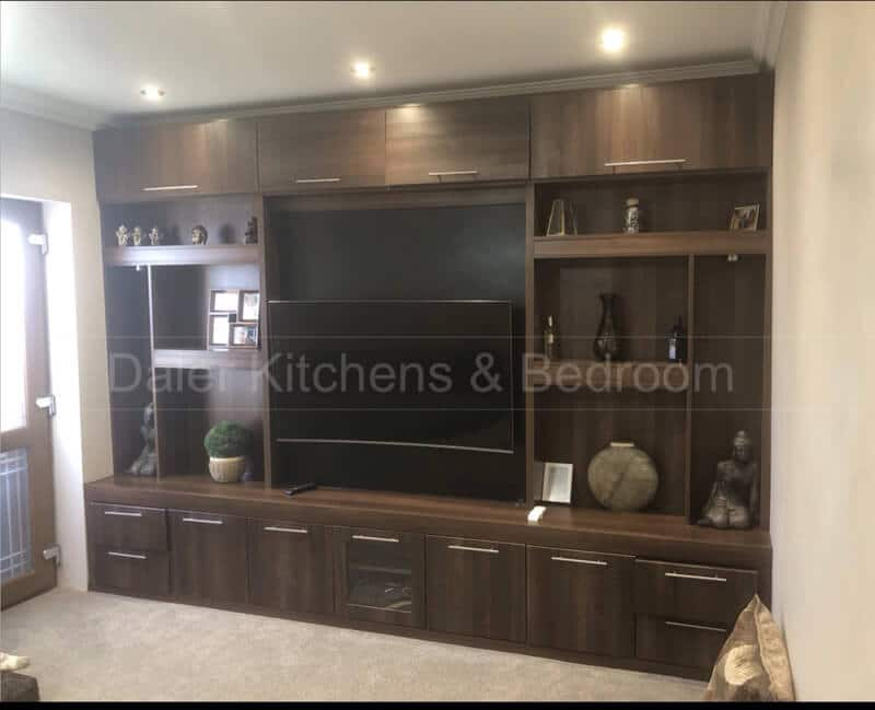 Fitted TV Cabinet Installation Cost London | Daler Kitchens